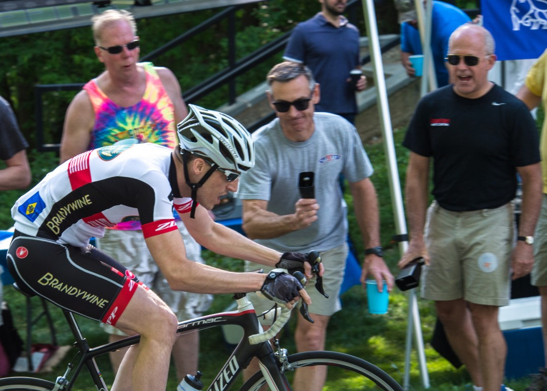 Fans provided energy to those riders trying to conquer the cobblestone at Monkey Hill
